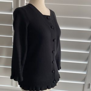 Juicy Couture sz S black cardigan cotton and cashmere blend, like new!